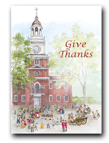 Thanksgiving Card -Independence Hall