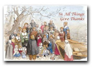 Thanksgiving Card- Pilgrims Land